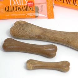 犬のおやつ:気になる関節にも♪歯磨きガム/デイリーグルコサミン
