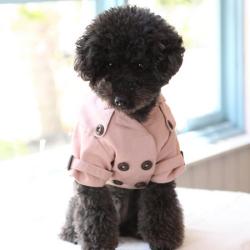 犬の洋服:オーガニックコットン製のおしゃれなトレンチ